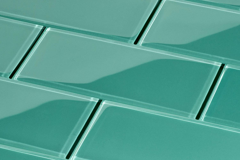 Glas Subway Tile von giorbello gr/ün