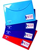 Oxford A4+ Campus Popper Wallet, Assorted Colour, 1 Wallet