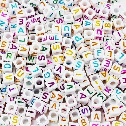 039a9493310b Abalorios de plástico de SUMAJU con letras individuales de la A a la Z para  manualidades ...