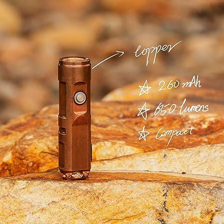 Rovyvon A9 cuivre 650 Lumens CREE XP-G3 Rechargeable USB Lampe de Poche