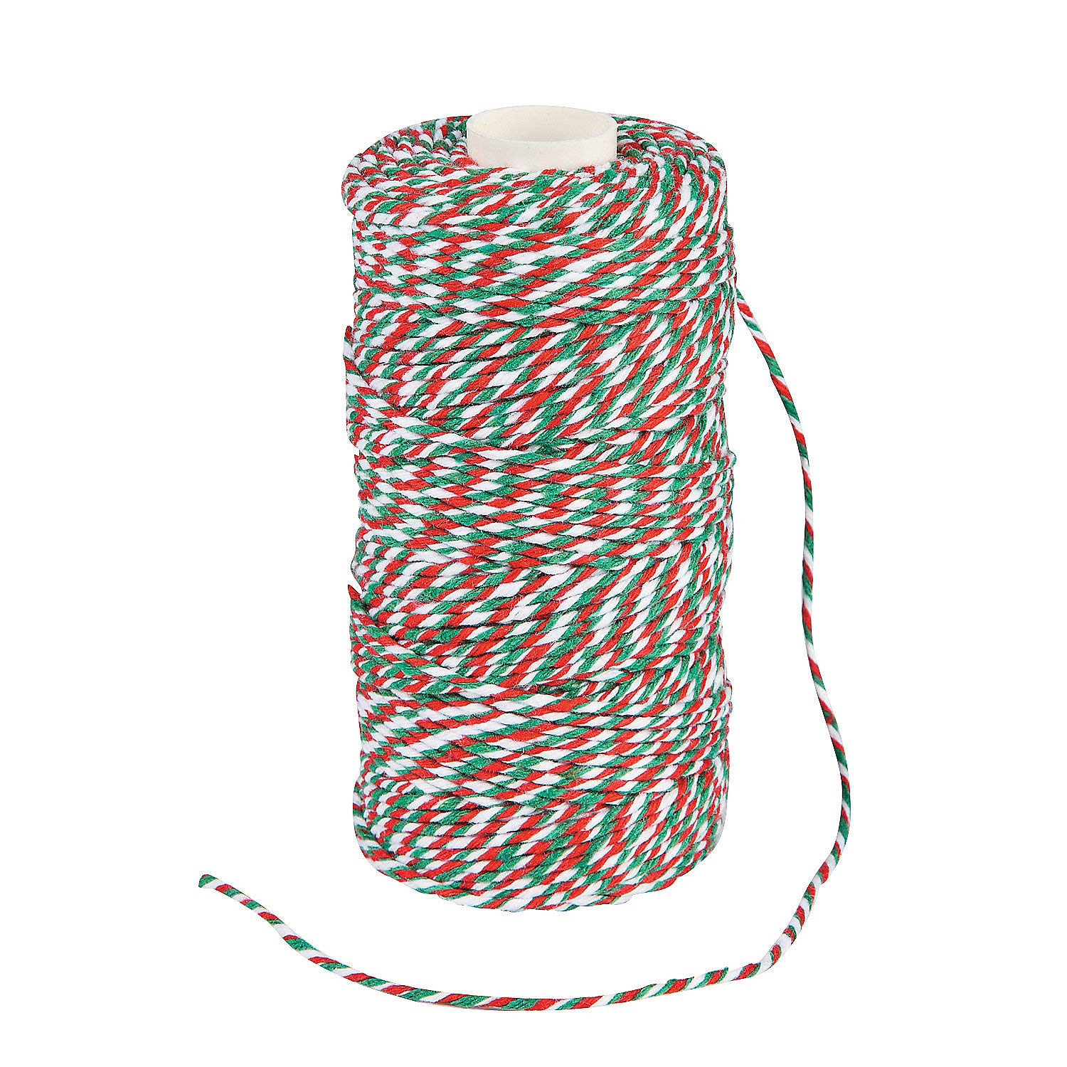 Fun Express Red Green and White Christmas Holiday Baker's Twine - 328 ft by Fun Express