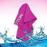 OMOTON high-tech di raffreddamento asciugamano per immediato sollievo di Soft Mesh traspirante Yoga Towel-Keep Cool per corsa ciclismo Escursioni e tutti gli altri sport