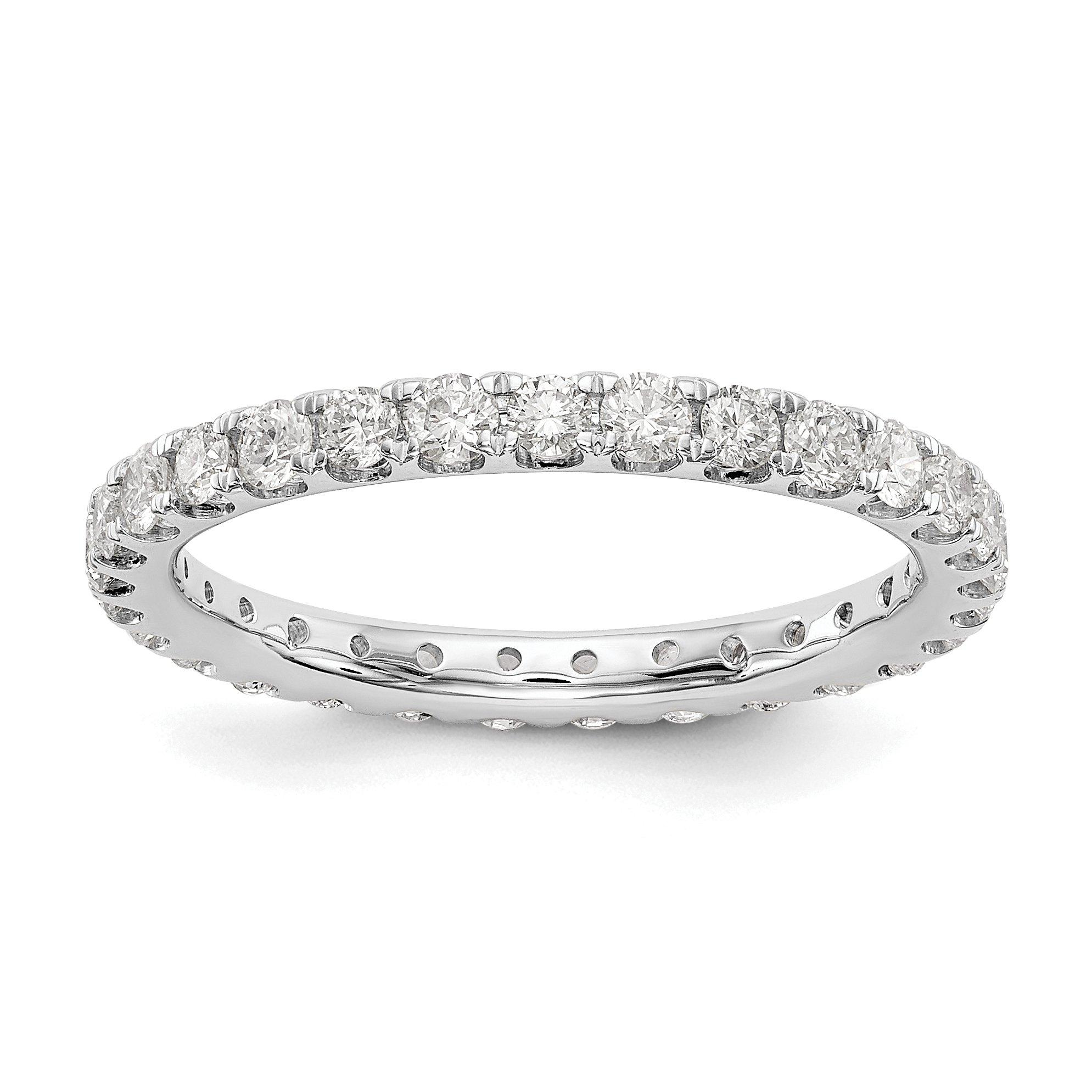 14k White Gold True Origin Lab-Grown Diamond Eternity Band Ring, VS/E- 1.05 cttw