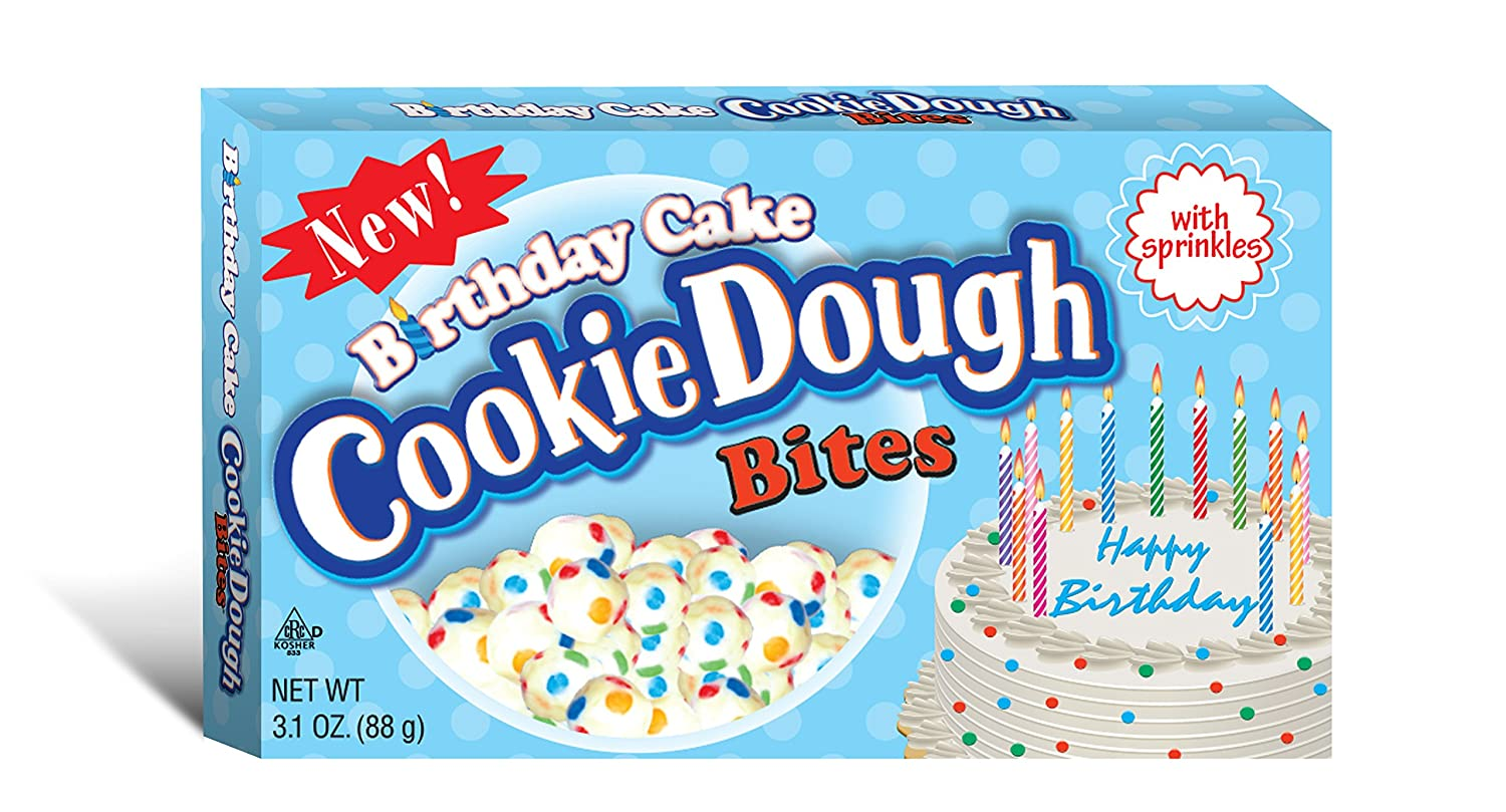 Amazon Taste Of Nature Inc Birthday Cake Cookie Dough Bites 31 Ounce Boxes Pack 30