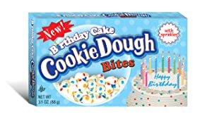 Taste of Nature Inc. Birthday Cake Cookie Dough Bites 3.1 Ounce Boxes (Pack of 30), White