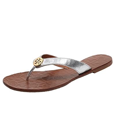 cf815ae9537f Tory Burch Thora Flip Flops Saffiano Leather Thong Sandals (7