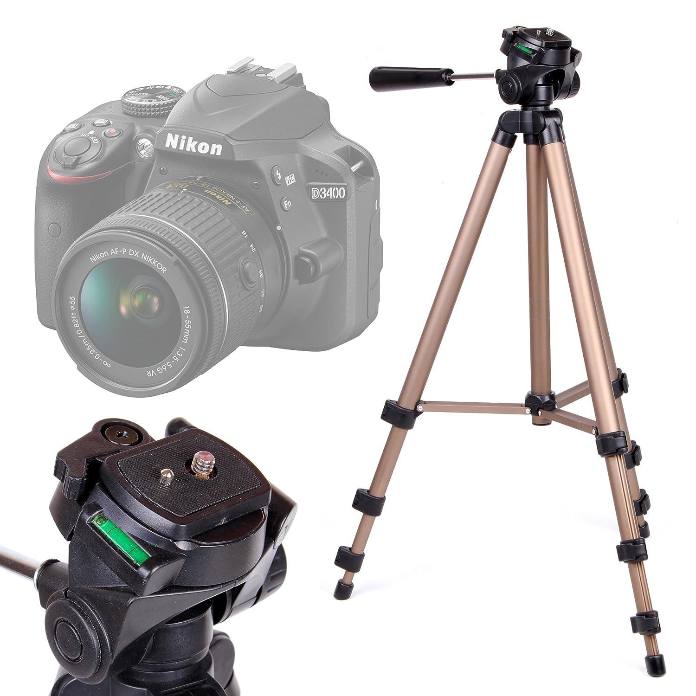 DURAGADGET Trípode con Nivel De Burbuja para Cámara Nikon D3400 ...