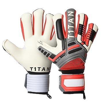 mejores ofertas en último verse bien zapatos venta T1TAN Nitro NC Neo guantes de portero 4 mm Gecko Grip/ guantes de fútbol  con protección para los dedos flexibles / Guantes de portero con costura ...