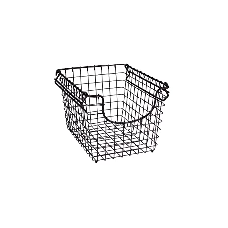 Spectrum Diversified Scoop Stacking Storage Basket, Small, Bronze