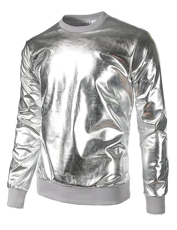 Metallic Silver Chrome Sweatshirt