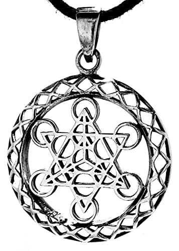 Metatron cube charm pendant in 925 sterling silver with cotton metatron cube charm pendant in 925 sterling silver with cotton necklace aloadofball Gallery