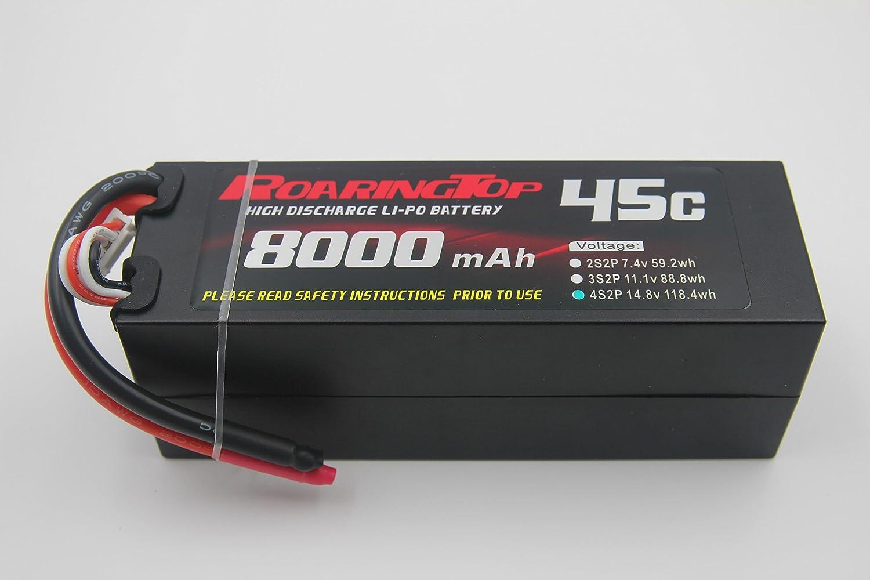 Roaring Top 8000mAh 4S2P 14.8V 45C LiPo Battery for RC Hobby RC Car