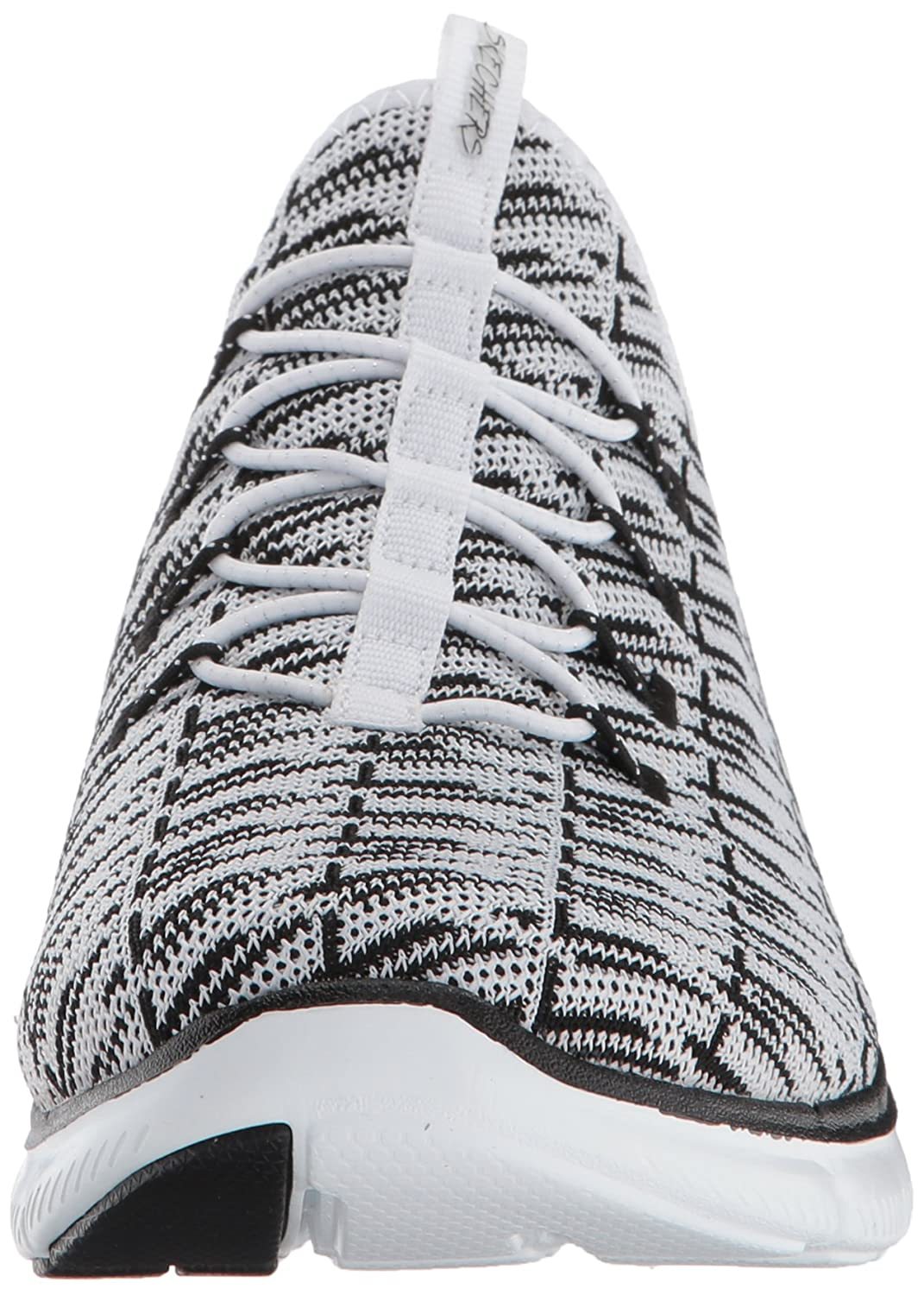Amazon.com | Skechers Sport Women's Flex Appeal 2.0 Insights Fashion Sneaker,  White/Silver, 7.5 W US | Fashion Sneakers