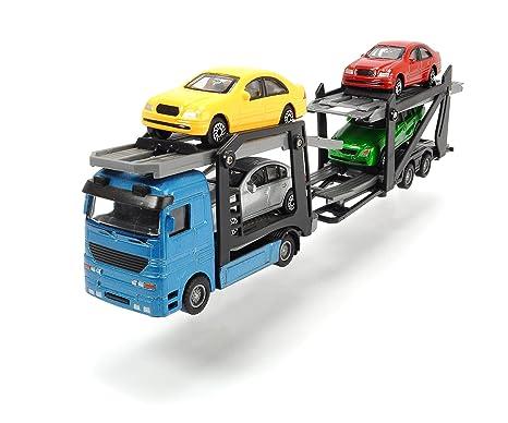 Autotransporter 4 Autos 2 Ladeflächen Spielzeug Transporter Licht Sound Funktion Autos