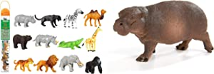 Safari Ltd - Wild TOOB with 12 Great Jungle Friends Bundled with Wildlife Pygmy Hippo - Quality Construction from Phthalate, Lead and BPA Free Materials - for Ages 3+