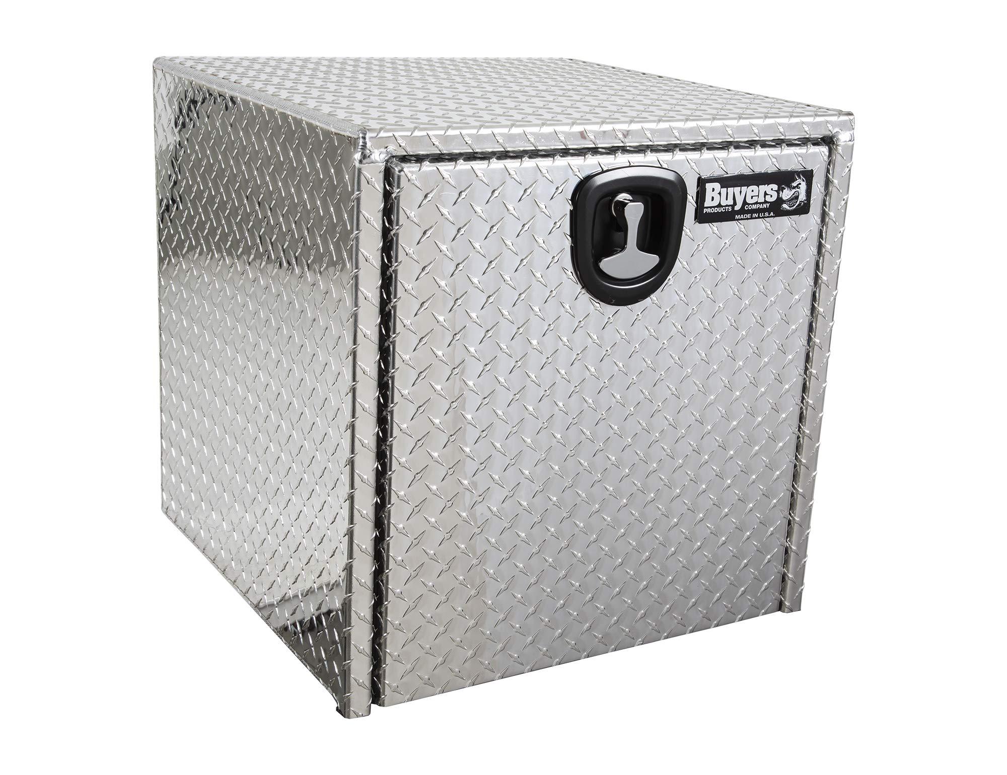 Buyers Products Diamond Tread Aluminum Underbody Truck Box w/ 3-Point Latch (24x24x24 Inch)