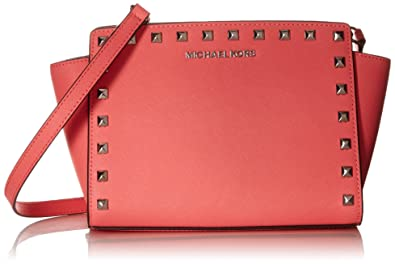 Image Unavailable. Image not available for. Color  Michael Kors Selma Stud  Medium Messenger ... 7d9b71270c