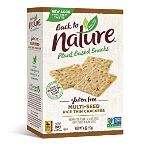 Back to Nature Non-GMO Rice Thins, Gluten Free Multi-Seed, 4 Ounce