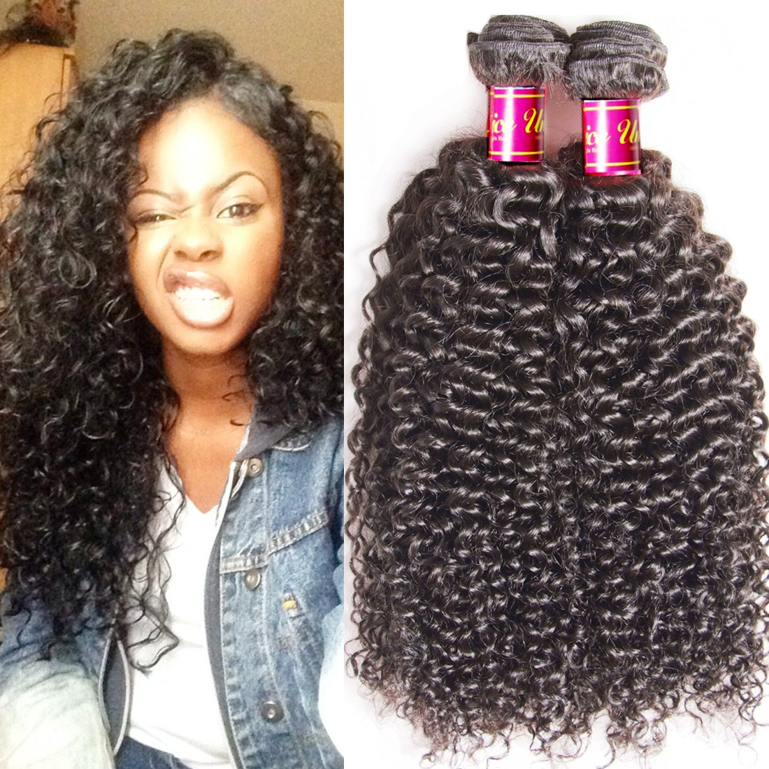 Amazon unice hair brazilian curly hair extenisons 3 bundles amazon unice hair brazilian curly hair extenisons 3 bundles 16 18 20inch unprocessed 6a virgin human hair curly weave weft natural color beauty pmusecretfo Gallery