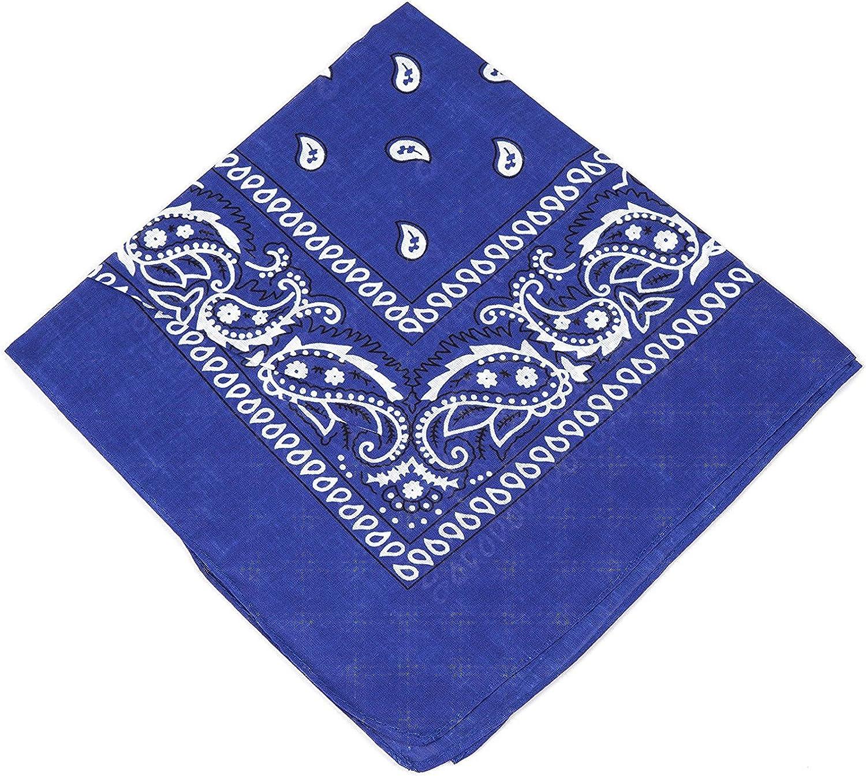 For Men Pack of 2 Women /& Kids High quality Royal blue and Purple bandannas scarf//Hankerchief//Head tie//Neck Tie//Neckerchief 100/% Cotton Set of 2 Paisley Bandanas