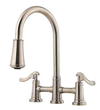 Pfister Lg531ypk Ashfield 2 Handle Pull Down Kitchen Faucet In