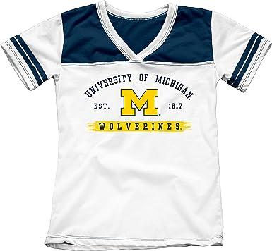 san francisco 72297 9161a Bag2School University of Michigan Wolverines Girls Youth Kids Tee Shirt  (YXS)