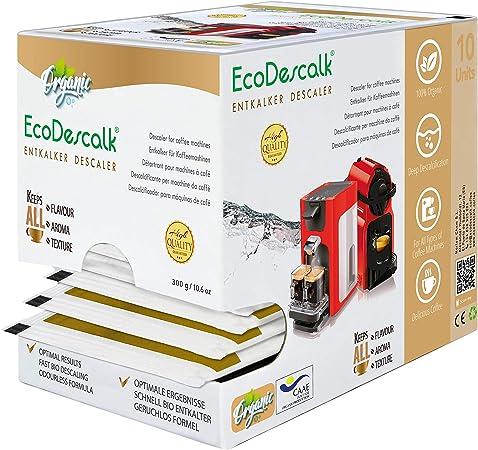 EcoDescalk Ecológico en Polvo, 10 Sobres. Descalcificador 100% Natural. Limpiador para Cafeteras. Todas Las Marcas. 10 Descalcificaciones. Producto CE.: Amazon.es: Hogar