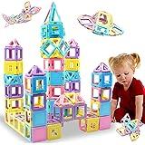 HLAOLA Magnetic Blocks 102PCS Upgrade Magnetic Building Blocks for Kids Magnetic Tiles 3D Magnetic Toys Educational STEM Toys