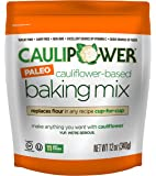 CAULIPOWER Cauliflower-Based Baking Mix, Paleo, 12 oz, Paleo All-Purpose Vegetable-Based Flour, Gluten Free, Grain Free, Non-GMO, Only 11 net carbs