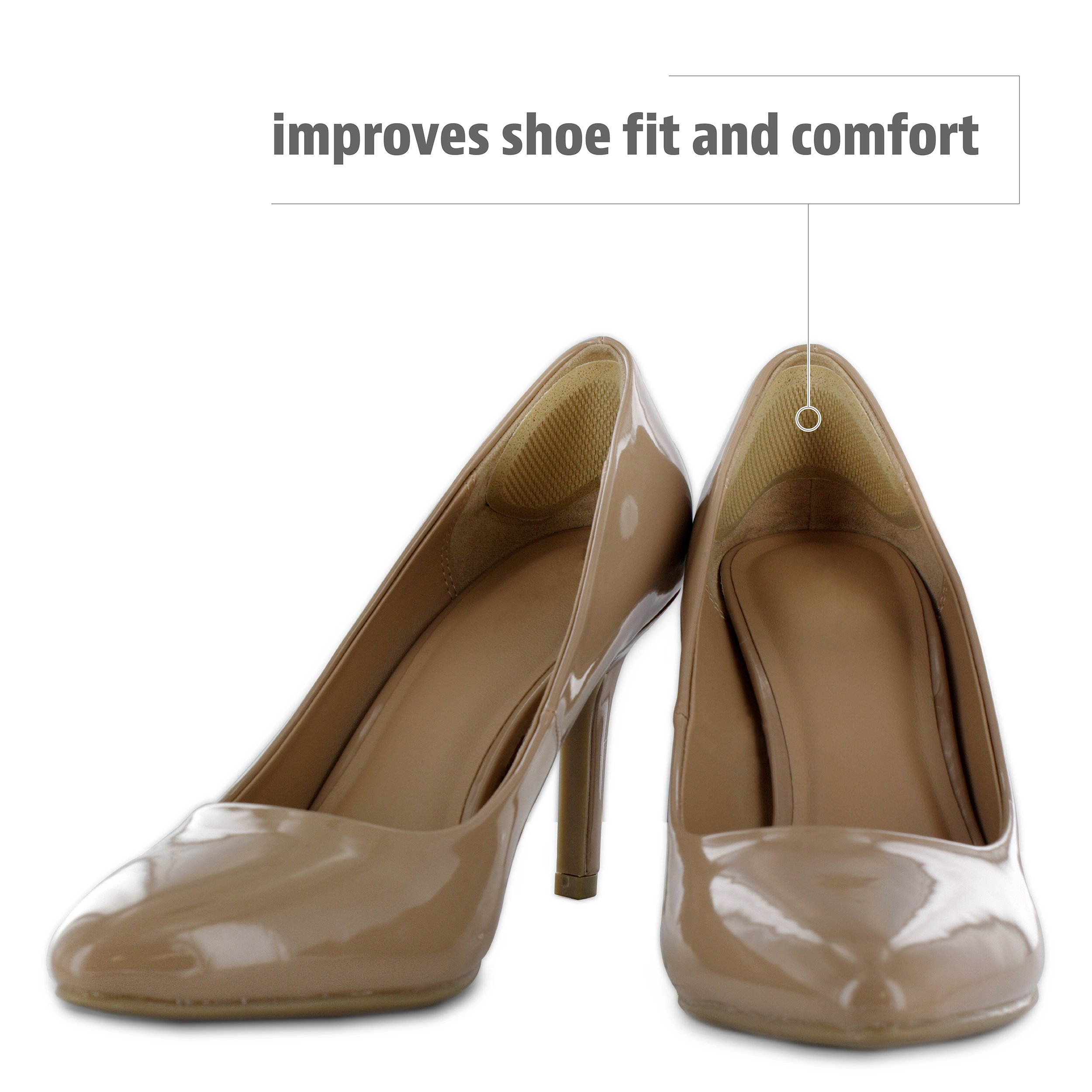 Sof Sole Heel Liner Cushions for Improved Shoe Fit and Comfort, 2 Pair by Sof Sole (Image #3)