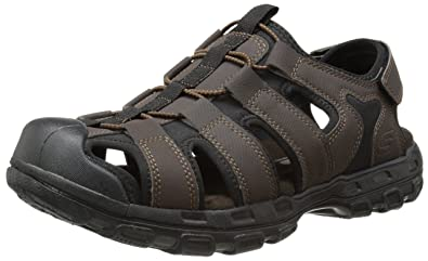 Skechers GanderLiveoak, Sandales pour homme - Marron - Braun (CHOC), 41 EU
