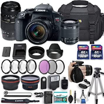 Amazon.com: Canon EOS Rebel T7i Cámara réflex de 24,2 MP con ...