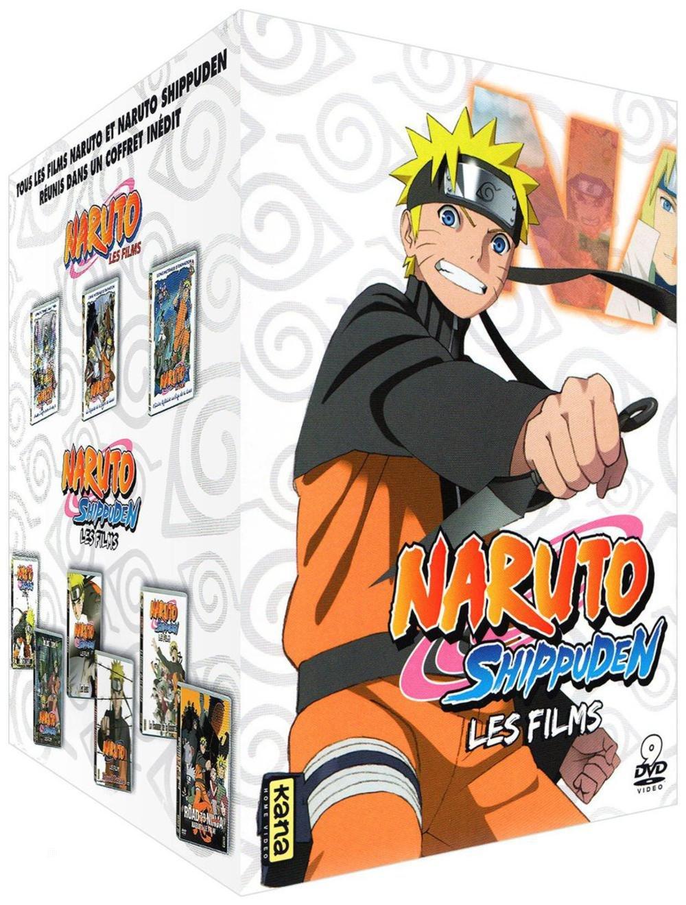 Naruto & Naruto Shippuden - Les 9 films - Coffret DVD ...