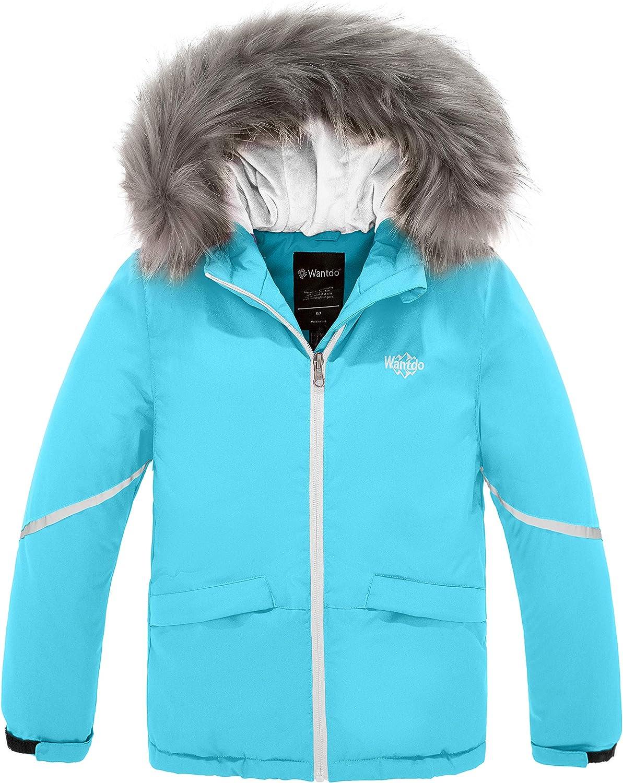 Wantdo Girl's Warm Snowboarding Jackets Waterproof Ski Jacket Fleece Winter Snow Coat Windproof Raincoats