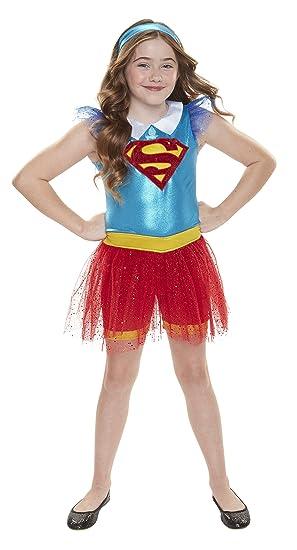 1798705be4614 DC Super Hero Girls 56737-eu Supergirl Quotidien Déguisement Costume  (Taille Unique)