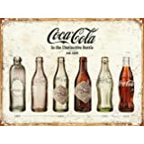 Coca Cola Bottle Evolution Tin Sign 16 x 13in