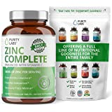Pure Zinc Gluconate Supplement 50MG with Vitamin C - Highest Quality and Potency - Powerful Antioxidant Two-in-One…
