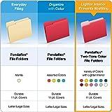 Pendaflex Two-Tone Color File Folders, Letter