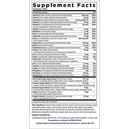 New Chapter Women's Multivitamin, Every Woman's One Daily, Fermented with  Probiotics + Iron + B
