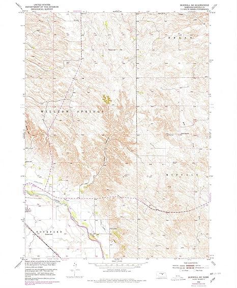 Burwell Nebraska Map.Amazon Com Yellowmaps Burwell Se Ne Topo Map 1 24000 Scale 7 5 X