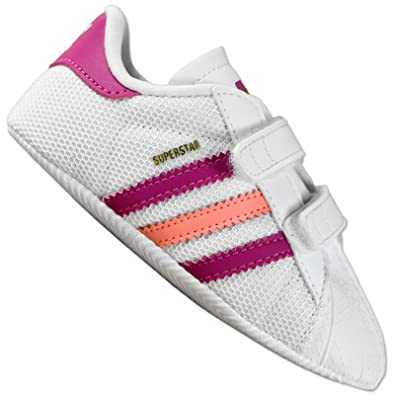 the best attitude 51113 fbabd adidas originals superstar shelltoe baby girls white pink crib shoe (UK 1)   Amazon.co.uk  Shoes   Bags