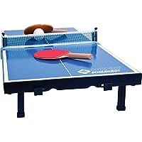 Donic-Schildkröt Mesa Tenis de Mesa de Mini, Mini de Tenis de Mesa Mesa, Juego Completo con 2Palos y 1Pelota, Tablero Plegable–Maletín de tamaño, Azul, Dimensiones Placa: 68x 33x 9cm, 838576