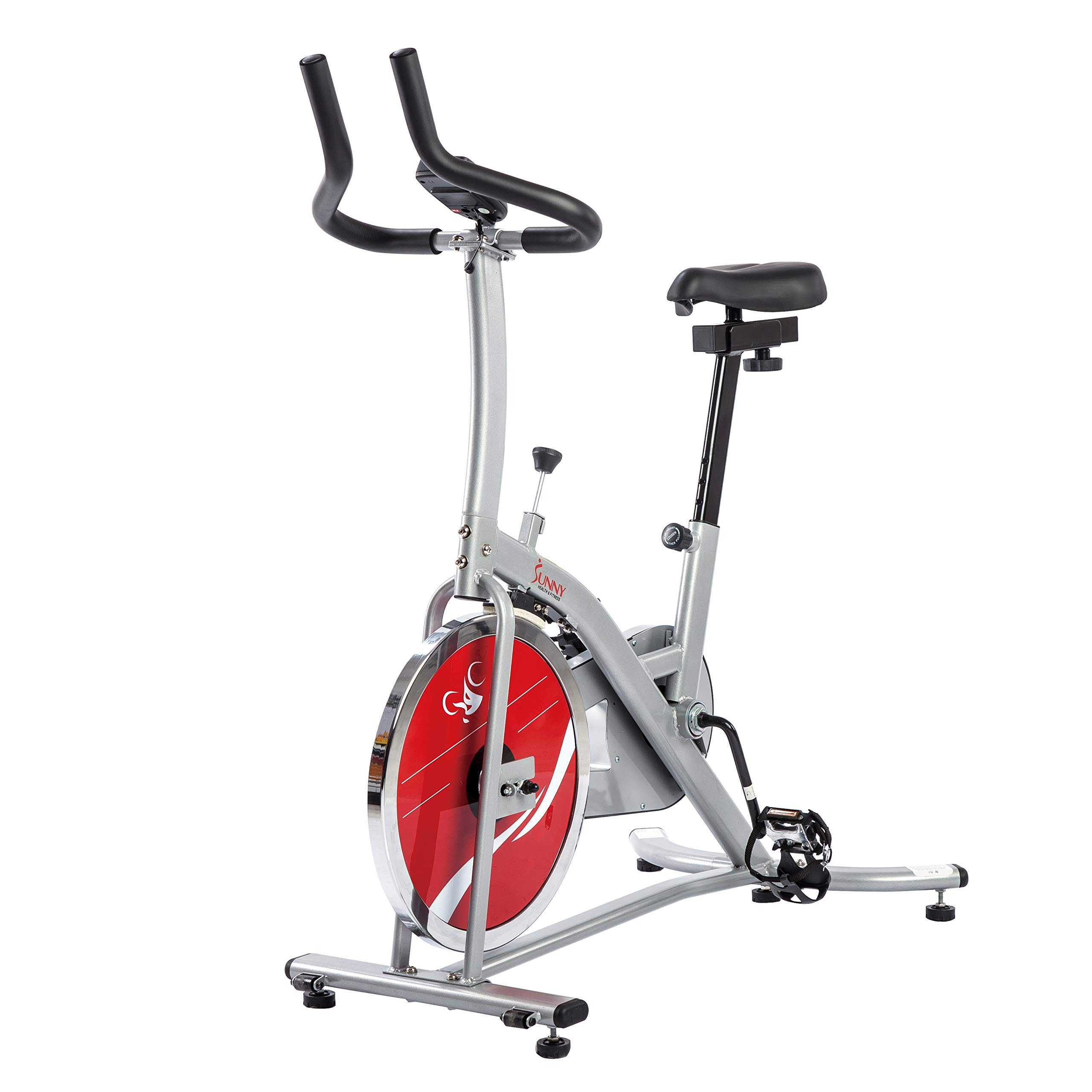Sunny Health & Fitness Indoor Cycling Exercise Stationary Bike with Monitor and Flywheel Bike - SF-B1203 by Sunny Health & Fitness (Image #9)
