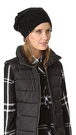 5886cbf480b Plush Women s Cable Knit Fleece Lined Beanie