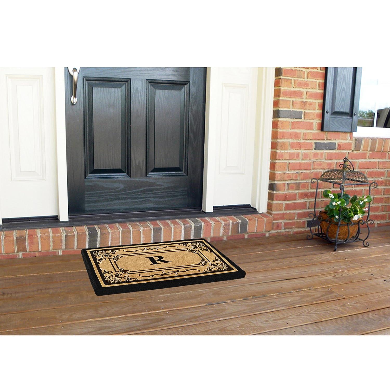 Nedia Home Heavy Duty Coco Georgetown Doormat 24 by 39-Inch Monogrammed C