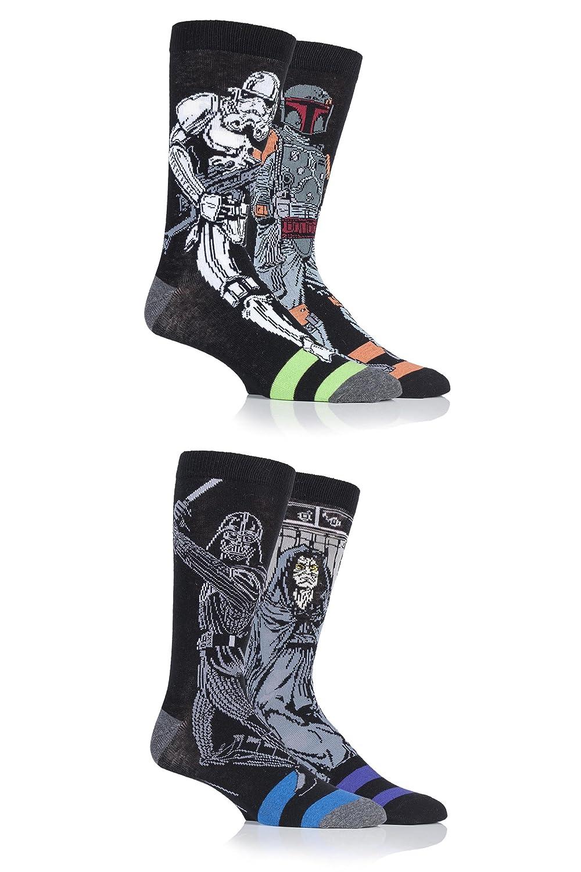 c552b3ab5b6 SockShop Mens 4 Pr Star Wars Darth Vader