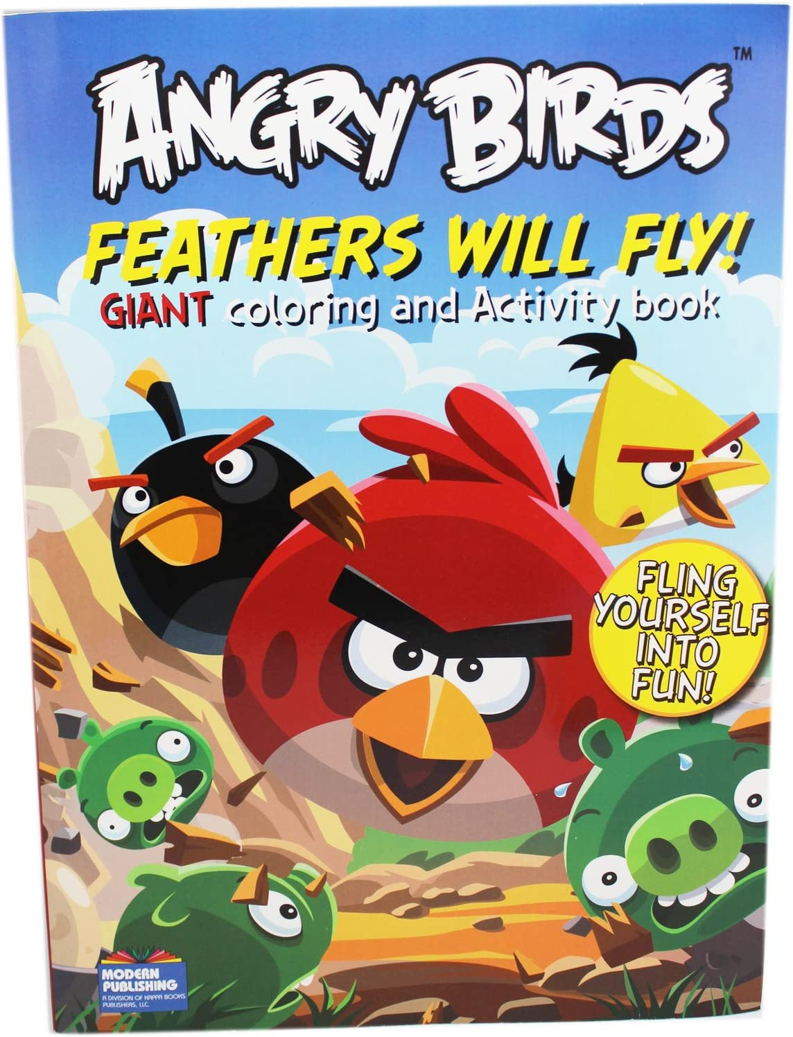 - Amazon.com: Rovio Angry Birds Feathers Will Fly Kids Coloring And