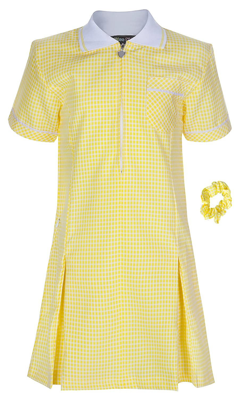 Miss Chief Girls School Gingham Summer Dress Age 3 4 5 6 7 8 9 10 11 12 13 14 15 16 17 18 20 Pleated