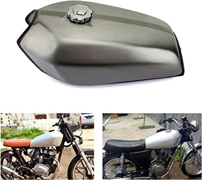 Tarazon 9l Universal Cafe Racer Motorrad Kraftstofftank Benzintank Tankdeckel Benzinhahn Für Honda Cg125 Cg125s Cg250 Auto