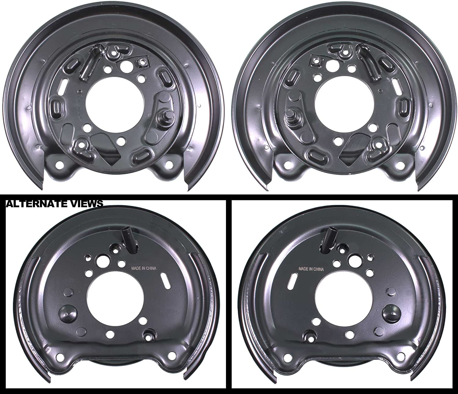 APDTY 035486 Disc Brake Dust Shield Backing Plate Set Fits Rear Left & Right 1998-2008 Subaru Forester/1993-2007 Impreza/ 1992-1997 Legacy (Rear Disc Brakes & 4-Wheel ABS ONLY) (Replaces 26255AA061)